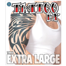 Tribal Extra Large Temporary Tattoo Arm Costume Black Tinsley Transfers XL Kit