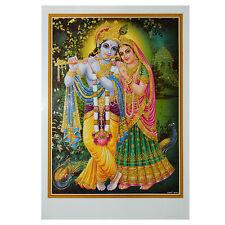 Immagine Radha & Krishna 50 x 70 cm religione Dio Induismo spiritualità India