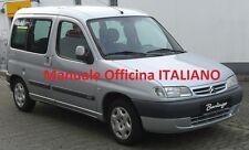 Citroen BERLINGO MK1 prima serie 1° (1996/2010) Manuale OFFICINA ITALIANO