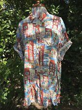 Fabulous Original Vintage 80s 90s Print Shirt By Pierre Cardin