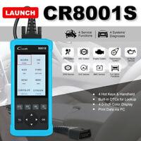 LAUNCH CR8001S OBD2 Car Code Reader ABS SRS Oil Reset Diagnostic Engine Scanner