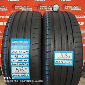 2 x 235 45 R18 98Y XL 4.1mm+4.1mm DOT18/19 Michelin Pilot-Sp-4.Ref.28513