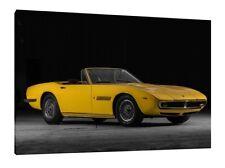 1969 Maserati Ghibli Spyder 4.9L  - 30x20 Inch Canvas Framed Picture Print