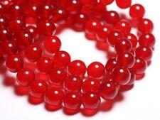 10pc - Perles de Pierre - Jade Boules 10mm Rouge vif - 4558550022004