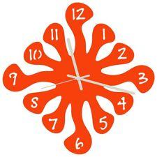 Euphyllia-Salpicaduras Reloj Grande De Pared 32 cm Naranja (e9574org)