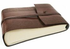 Maya Recycled Leather Photo Album, Small Etched - Handmade in Italy