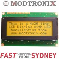 2004 Quality LCD Character Display Module, 20x4, Black on Orange, Arduino/PIC