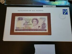 🇳🇿 Banknotes of all Nations New Zealand  2 dollars 1981 UNC  P-170a 101721-30