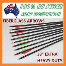 "10 X 31"" Fiberglass Arrows 15-80lb Archery Hunting Compound Bow Fiber Glass"