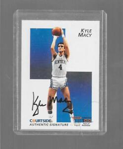 1992 Courtside - KYLE MACY - Certified Autograph - KENTUCKY WILDCATS