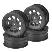 J Concepts 3397B 9 Shot 2.2'' Front Wheel Black (4) : B6.1 /YZ2 / XB2 / RB7