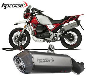 Exhaust Muffler Hpcorse Sps Carbon Stainless Steel Moto Guzzi V85 TT 2019 > 2020