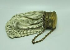 New listing Whiting & Davis Vintage White Expandable Mesh Purse With Wristlet Art Deco Style
