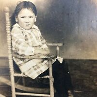 VTG RPPC Postcard Antique Boy Rocking Chair c.1900s-1910s Early Charles Danelson