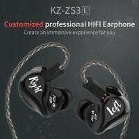 KZ ZS3E Earphone Dynamic HIFI Stereo Headset In Ear Monitor Sport Headphone #K
