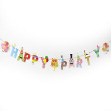 Happy Party/birthday Paper Flag Party Bell Garland Decor Party Banner Bunting G4 Party