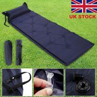 Self Inflating Camping Roll Mat Pad Inflatable Pillow Bed Sleeping Mattress +Bag