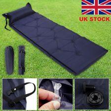 Self Inflating Camping Roll Mat Pad Inflatable Pillow Bed Sleeping Mattress&Bag