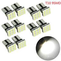 10x T10 White LED 9SMD Car License Plate Light Tail Bulb 2825 192 194 168 W5W