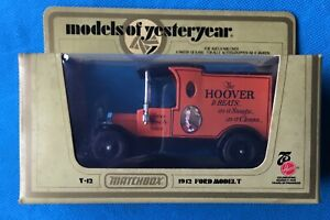 1970's Matchbox Models of Yesteryear Y-12 1912 Ford Model T Hoover  model.MIB