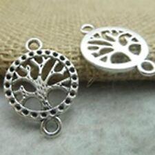 Pack de 10 pcs arbre de vie charmes antique tibetan silver tone 2 COTES-te1927