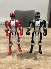 Power Rangers Operation Overdrive Red Ranger & Black Action Figure Bandai Rare