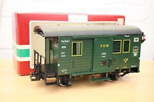 LGB G Gauge 3019 Postal, Post Car, Wagon with Lights, The Big Train, Boxed