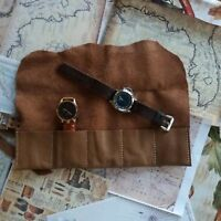 5 Slot Watch Box Leather Storage Case Organizer Jewerly Display Brown Pouch 2 6