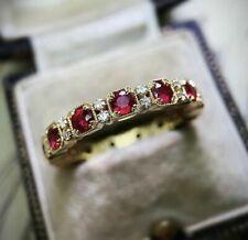 Fashion 10KT Gold Filled Ruby White Sapphire Ring Wedding Women Fine Jewelry Sz8