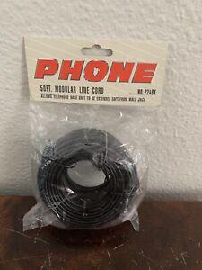 Black 50' ft Telephone Modular Line Cord Phone NO224BK Triace