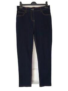 New Ladies Matalan Denim Jeans Size 12 Dark Blue