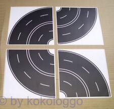 H0-8x CURVA Calle asfalto negro calle autoadhesivo ancho 80mm