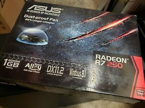 New ASUS Radeon R7 250 1GB GDDR5 Video Card R7250-1GD5 w/ cables NOB
