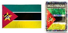 "Wholesale Combo Set Mozambique Country 3x5 3'x5' Flag and 3""x4"" Decal"
