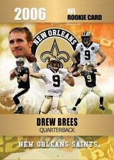 2006 DREW BREES GOLD PLATINUM VERY FIRST ROOKIE CARD NEW ORLEANS SAINTS!