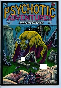 PSYCHOTIC ADVENTURES ILLUSTRATED #1 - Comix - 7.0, OW-W - 1st printing