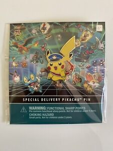 Pokemon Center Exclusive Special Delivery Pikachu Pin 2014 Rare Brand New