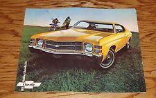 1971 Chevrolet Chevelle Sales Brochure 71 Chevy Malibu SS