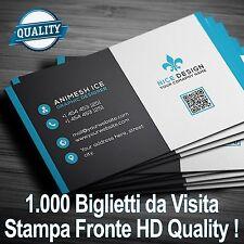 1000 Biglietti da visita personalizzati stampa Fronte a Colori HD Carta Patinata
