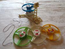 Mattel Major Matt Mason Satellite Launcher and 4 Satellites - Works!
