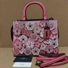 New Coach Rogue Shoulder Bag Sakura Cherry Blossom Applique Japan Limited 67690