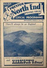 More details for preston north end v bolton wanderers reserves 1950/51