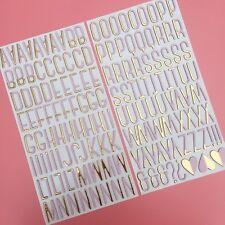 American Crafts Hoja De Oro Alfabeto Thickers aglomerado Pegatinas Tarjeta Scrapbooking
