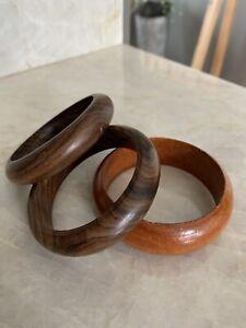 stackable bangle vintage wood bracelet 1970s boho bangle Geometric Wood Bracelet vintage wood bangle hippie bangle