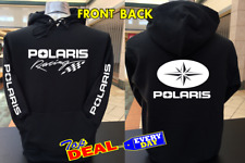 Polaris Racing Extreme sports Hoodie Black Front and Back