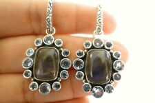 Labradorite Blue Topaz 925 Sterling Silver Dangle Drop Earrings