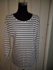 Women's Girl's White & Blue Stripe Open Sleeve Top Size 14 UK Brand New With Tag