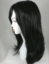 Long Off Black Straight Hair Wig w/Bangs