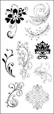 HOBBY ART LTD Clear rubber stamps FLOURISHES CS053D 9 Stamps