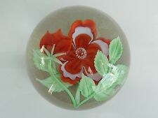 Orient & Flume Crystal Cased PRIMROSE & BUD Paperweight G Held 5/100 L.E COA EC